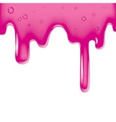 pink viscous liquid vector image
