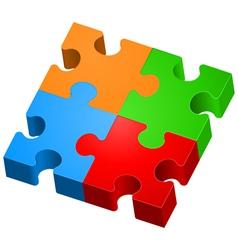 Puzzle vector image