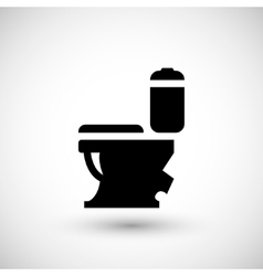 Modern toilet icon vector image