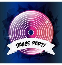 Vinyl icon electro party design graphic vector