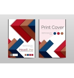 Geometric brochure front page vector