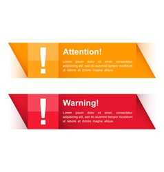 Attention and warning banners vector