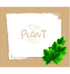 Border template with ivy leaves vector