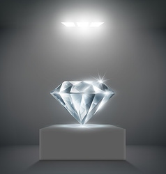 Diamond on a pedestal vector