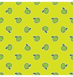 Doodle hand drawn apple seamless pattern vector