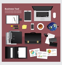 Flat Design Business Tool vector image vector image