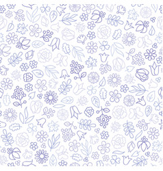 flower icon seamless pattern floral leaves vector image