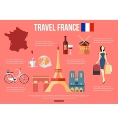 France travel background with place for text Set vector image vector image