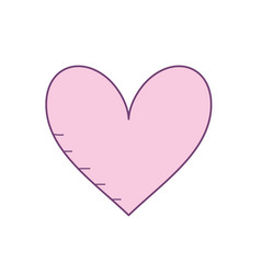 Heart with love and passion symbol icon vector