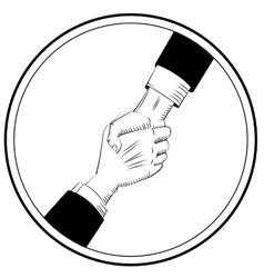 Helping Hands sign vector image vector image