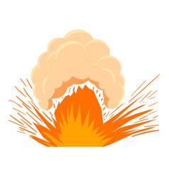High powered explosion icon cartoon style vector