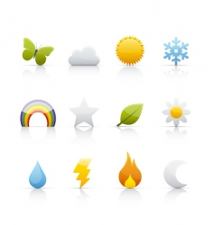 icon set weather and climate vector image vector image