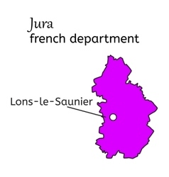 Jura french department map vector image