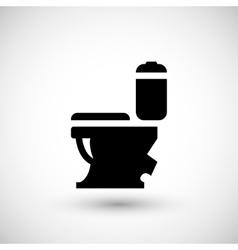 Modern toilet icon vector