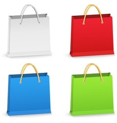 Paper Shopping Bags vector image vector image