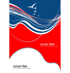 Red blue abstract background vector