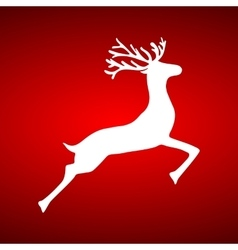 Reindeer on red background vector