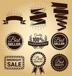 Set of labels vintage for sale concept vector image vector image