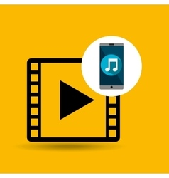 Smartphone music online video vector