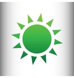 Sun sign green gradient icon vector