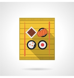 Sushi set flat color icon vector image vector image