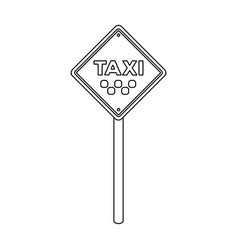 taxi stop road sign parking zone for yellow taxi vector image