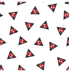 Terra Triangle Flat Seamless Pattern vector image vector image