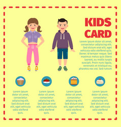 Yellow kids card infographic template l vector