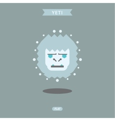 Yeti graphic head flat logo vector image