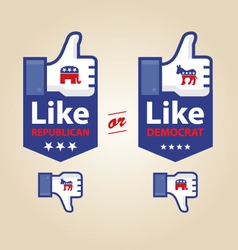 Like republican or democrat presidential election vector