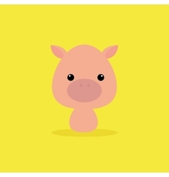 Cute cartoon pig vector