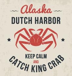 alaska t shirt with king crab vector image