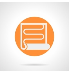 Orange round icon for heat coil vector