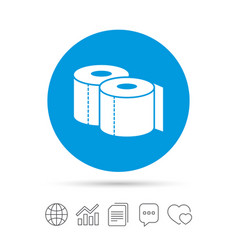 toilet papers sign icon wc roll symbol vector image