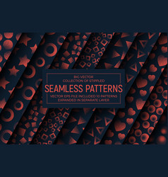 Abstract stippled seamless patterns vector
