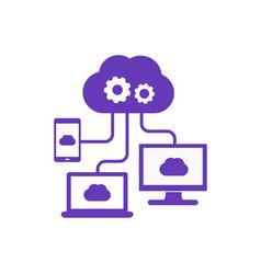 Cloud computing technologies icon vector