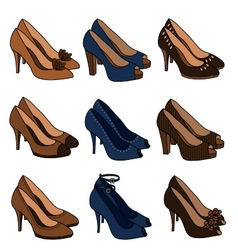 High heeled shoes vector
