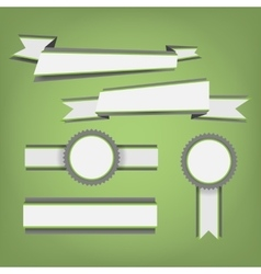 Flat color ribbons and badges vector