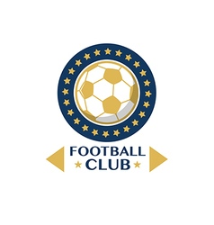 Soccer football badge circle vector