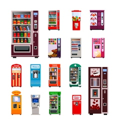 Vending machines icons set vector