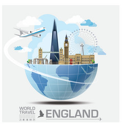 England landmark global travel and journey vector