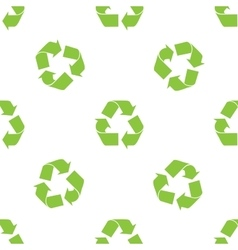 Recycle symbol pattern vector