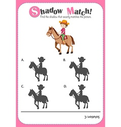 Game template for shadow matching farmer vector