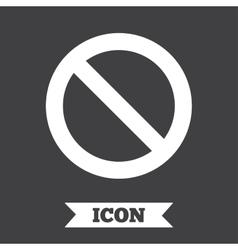 Stop sign icon prohibition symbol vector