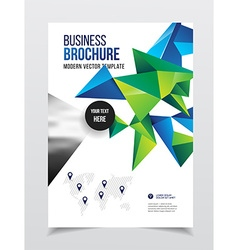 Abstract business flyer design template in a4 size vector