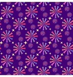 Abstract geometric seamless pattern circus vector