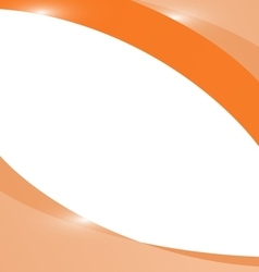 Abstract light orange wave background vector