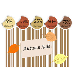 autumn sale background with bar code vector image