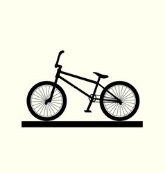 bmx bike silhouette vector image vector image