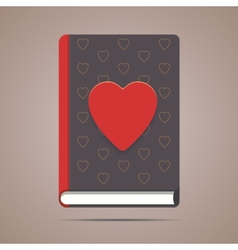 Book with heart shape vector